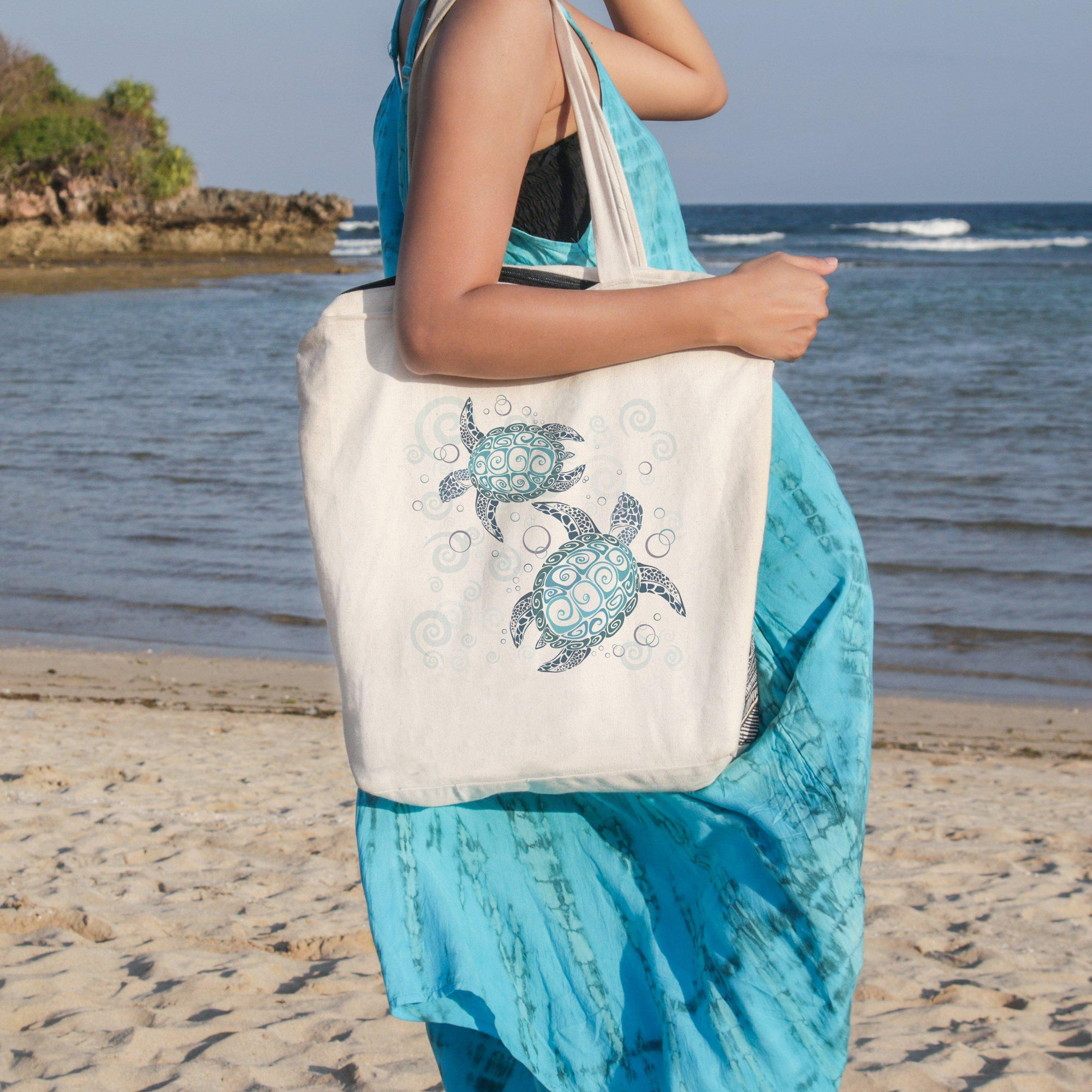 The Original Sea Turtle Twist Beach Tote
