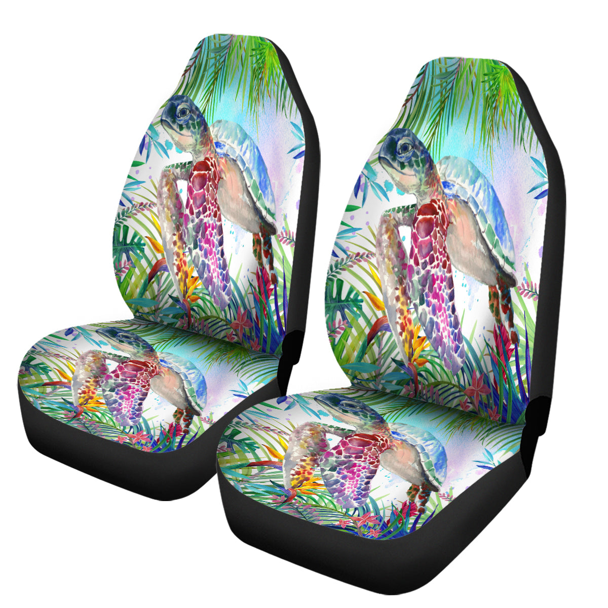 The Tropical Sea Turtle Car Seat Cover-Coastal Passion