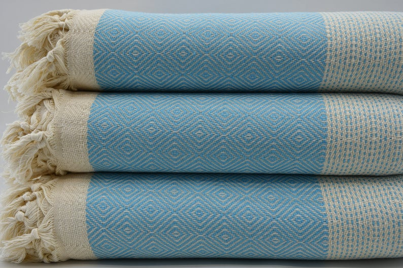 Turquoise Four Seasons Blanket-Coastal Passion