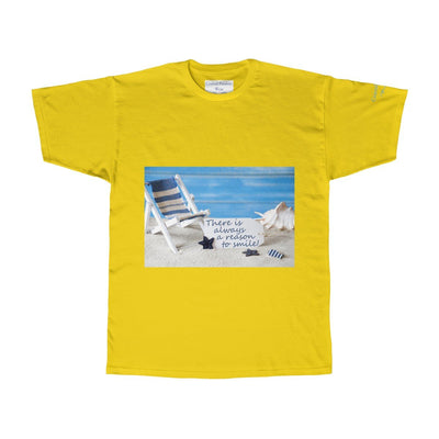 A Reason To Smile Tee-T-Shirt-Yellow-S-Coastal Passion