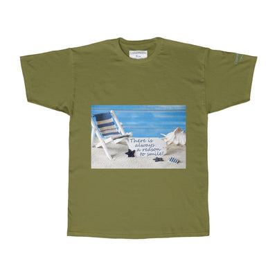A Reason To Smile Tee-T-Shirt-Military Green-S-Coastal Passion