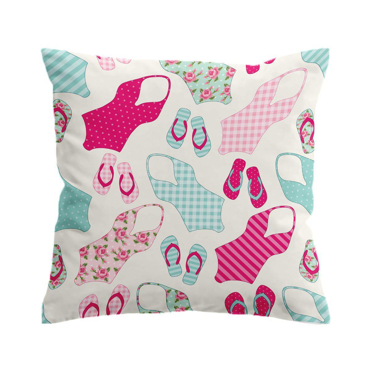 All I Need Are My Flip Flops and Swimsuits Pillow Cover-Coastal Passion