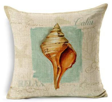 "Artsy Sea Style Collection-Pillow Cover-17"" x 17""-Standard: Linen-Polyester-Artsy Sea Style Collection 3-Coastal Passion"