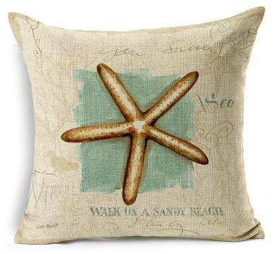 "Artsy Sea Style Collection-Pillow Cover-17"" x 17""-Standard: Linen-Polyester-Artsy Sea Style Collection 4-Coastal Passion"
