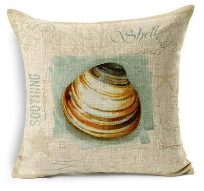 "Artsy Sea Style Collection-Pillow Cover-17"" x 17""-Standard: Linen-Polyester-Artsy Sea Style Collection 5-Coastal Passion"