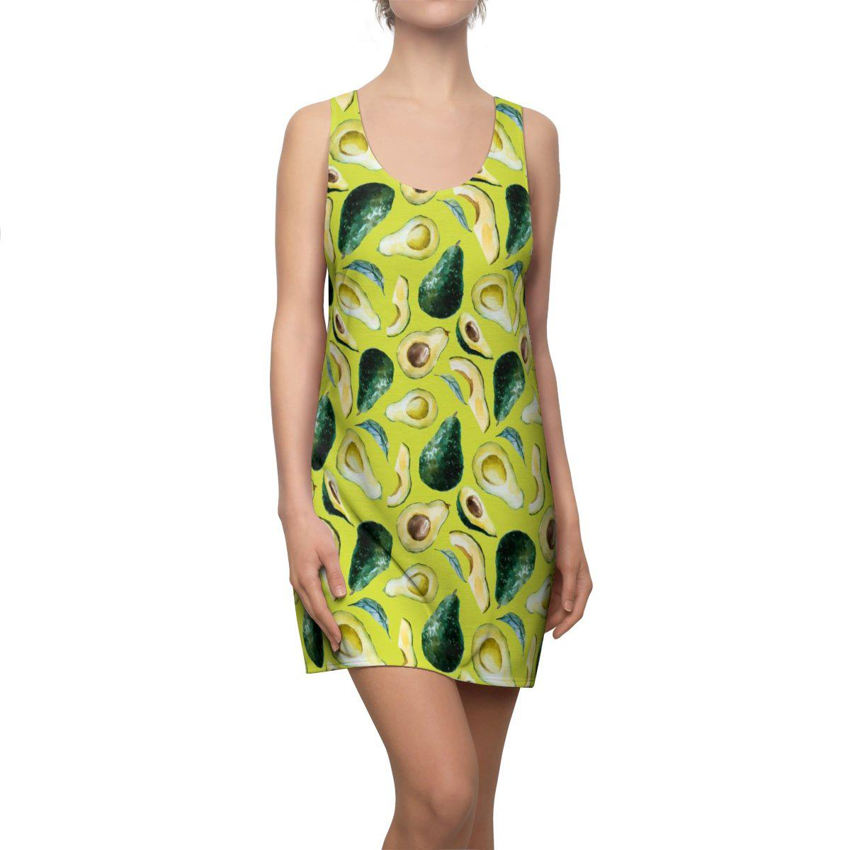 Avocado Passion Dress-All Over Prints-XS-Coastal Passion