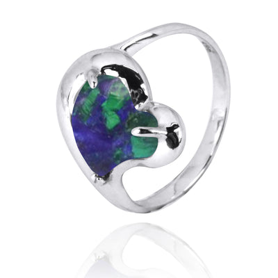 Ring-Azurite Malachite Cocktail Ring-Coastal Passion