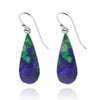 Earrings-Azurite Malachite Drop Earrings-Coastal Passion