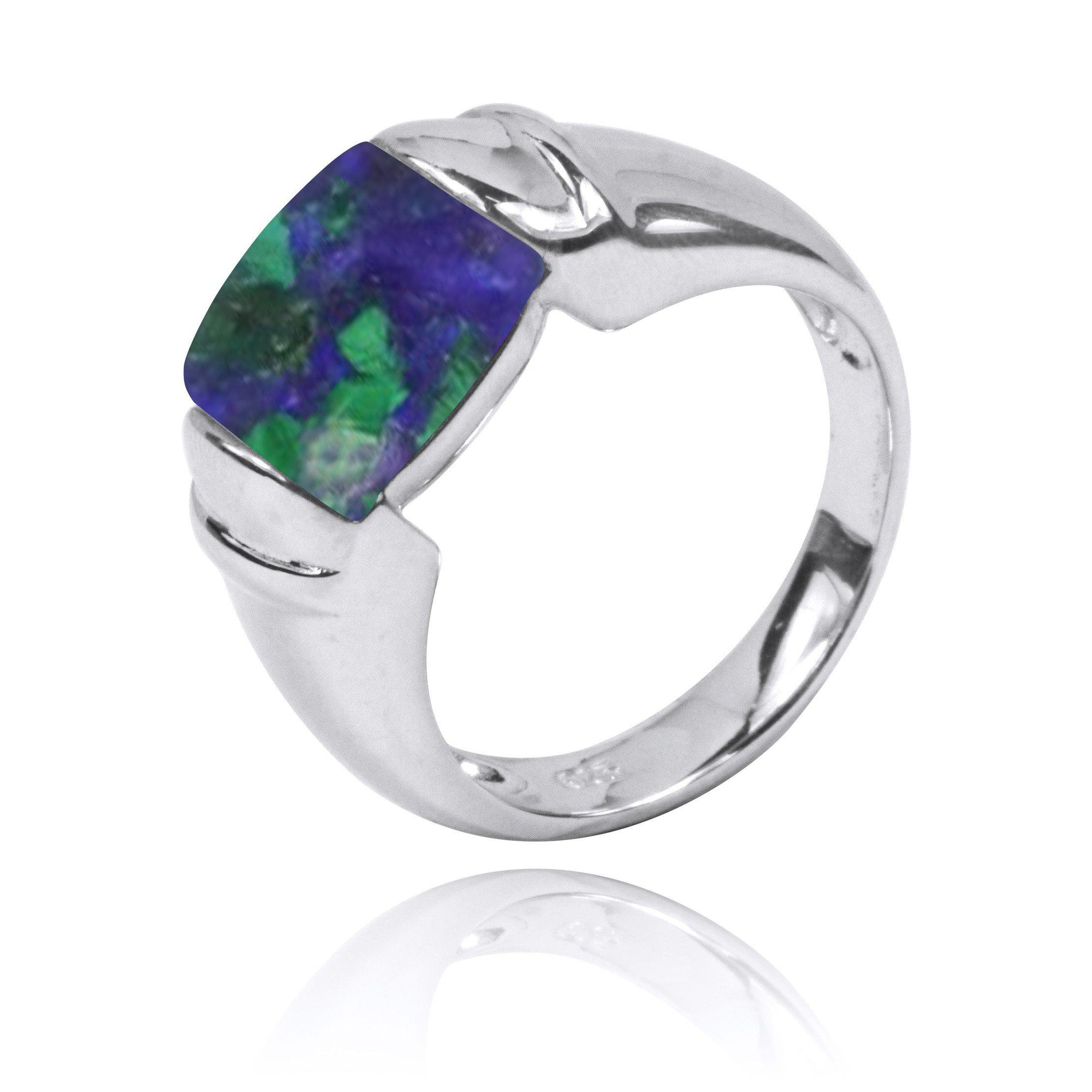 Azurite Malachite  Gemstone Ring