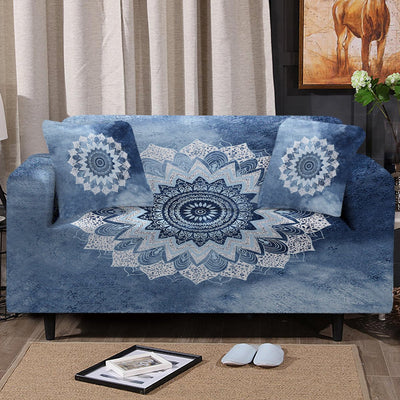 Sofa Slipcover-Bali Blue Surf Couch Cover-Coastal Passion