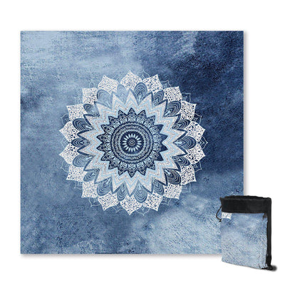 Sand Free Beach Towel-Bali Blue Surf Sand Free Towel-Coastal Passion