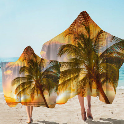 Hooded Beach Towel-Barbados Hooded Towel-Coastal Passion