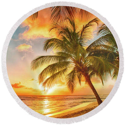 Barbados Round Beach Towel-Round Beach Towel-Coastal Passion