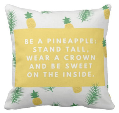 Be A Pineapple Collection-Pillow Cover-Be A Pineapple 2-Canvas-Coastal Passion