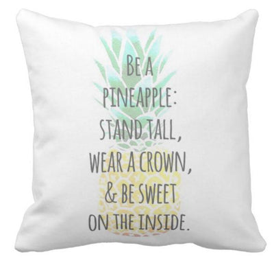 Be A Pineapple Collection-Pillow Cover-Be A Pineapple 4-Canvas-Coastal Passion