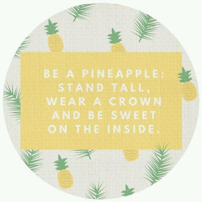 Be A Pineapple Collection-Pillow Cover-Be A Pineapple 2-Standard: Linen Blend-Coastal Passion