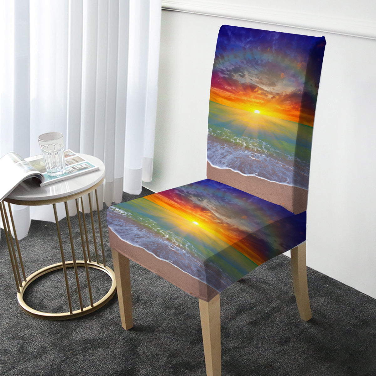 Sunset Beach Chair Cover