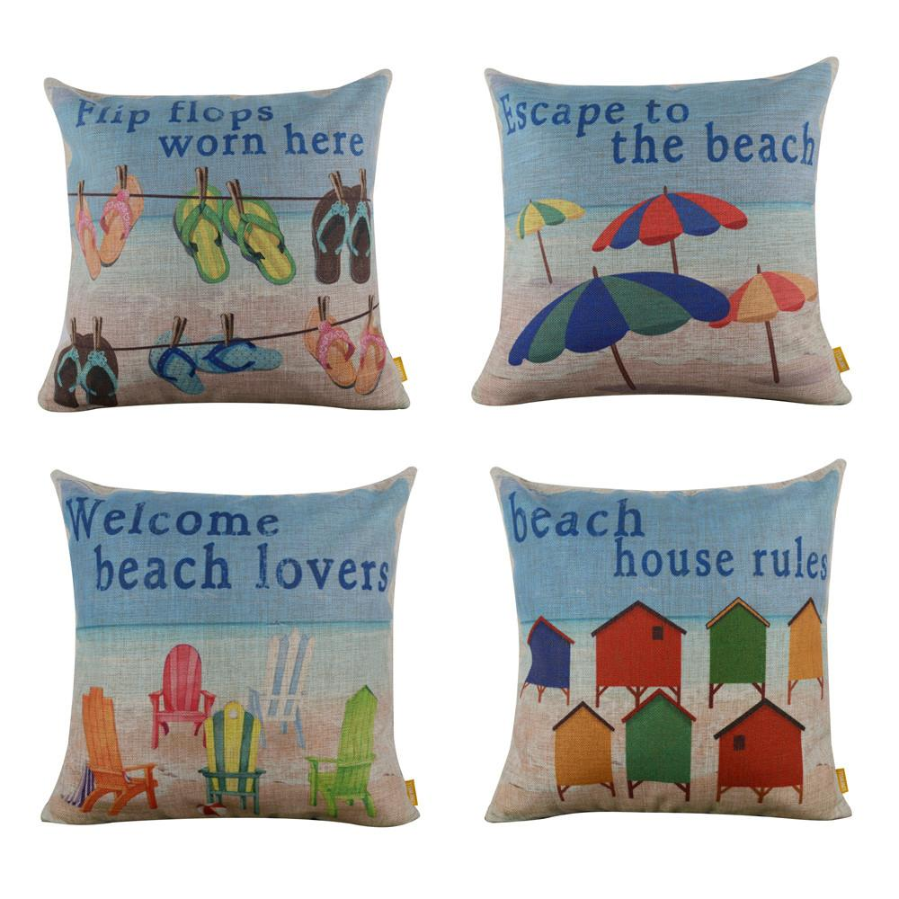 Beach Collection-Pillow Cover-Coastal Passion