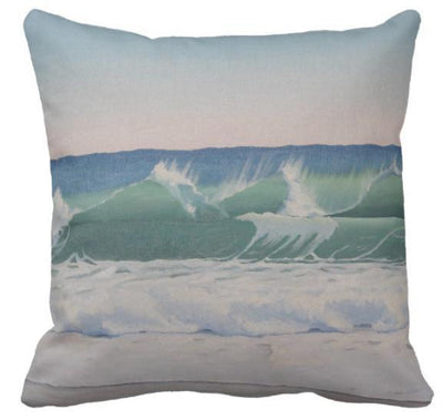 "Beach Painting 3-Pillow Cover-Beach Painting 3-17"" x 17""-Standard: Linen Blend-Coastal Passion"