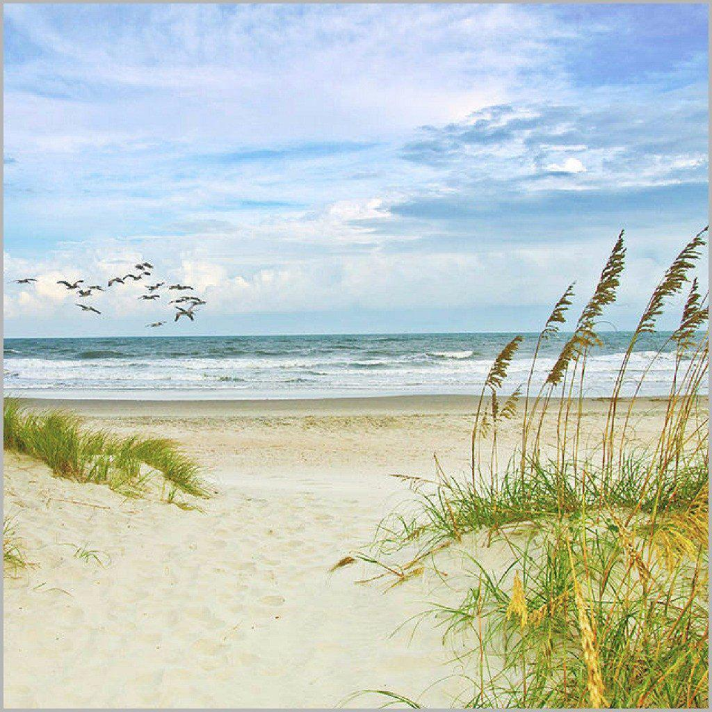 Beach Painting Canvas Poster-12x12 inch-Coastal Passion
