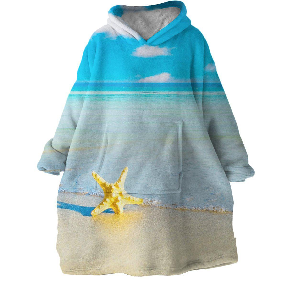 Beach Please Wearable Blanket Hoodie-Coastal Passion