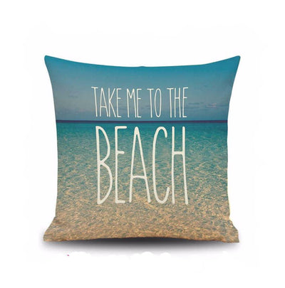 Beach Quotes Collection-Pillow Cover-Take Me To The Beach-Coastal Passion