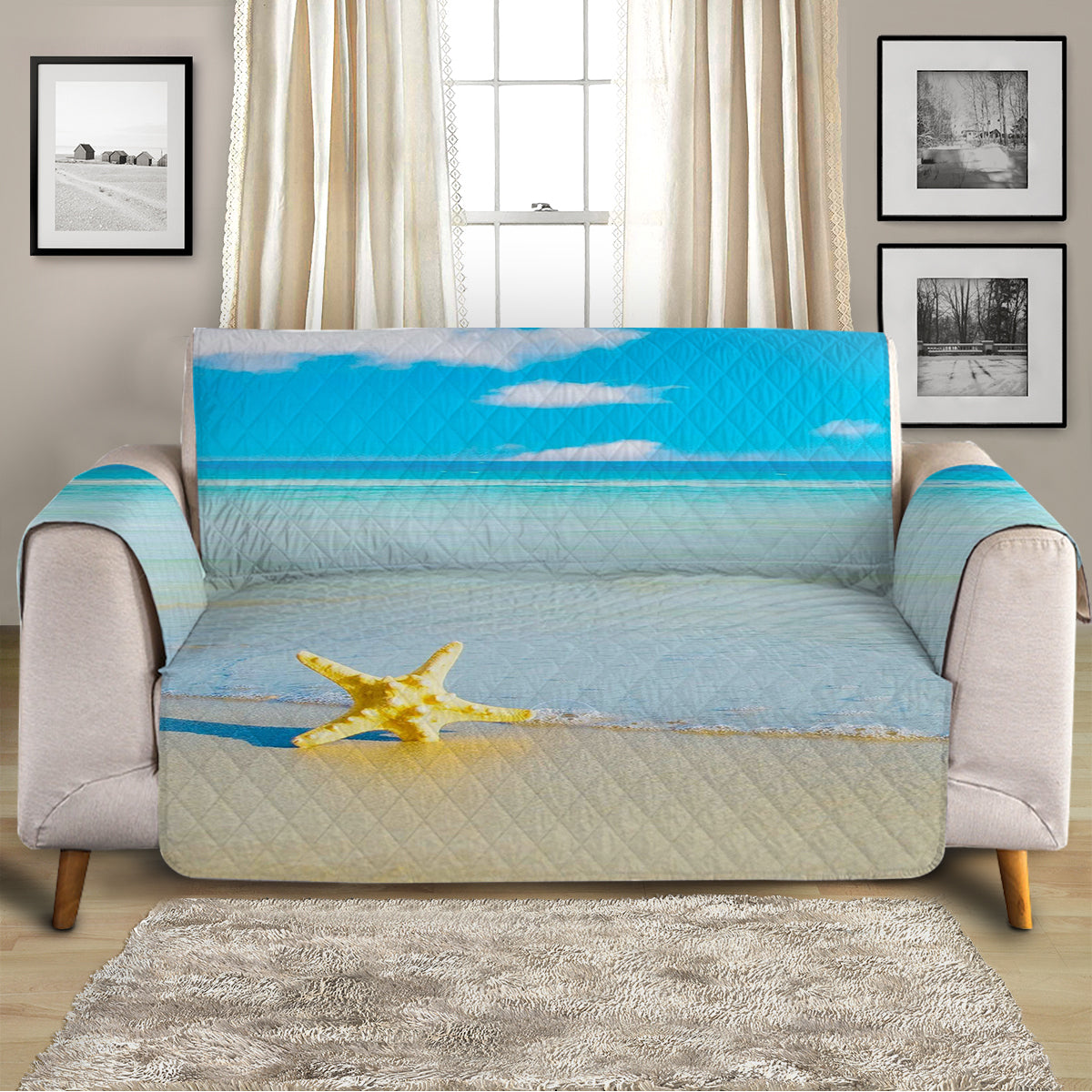 Beach Please Sofa Cover