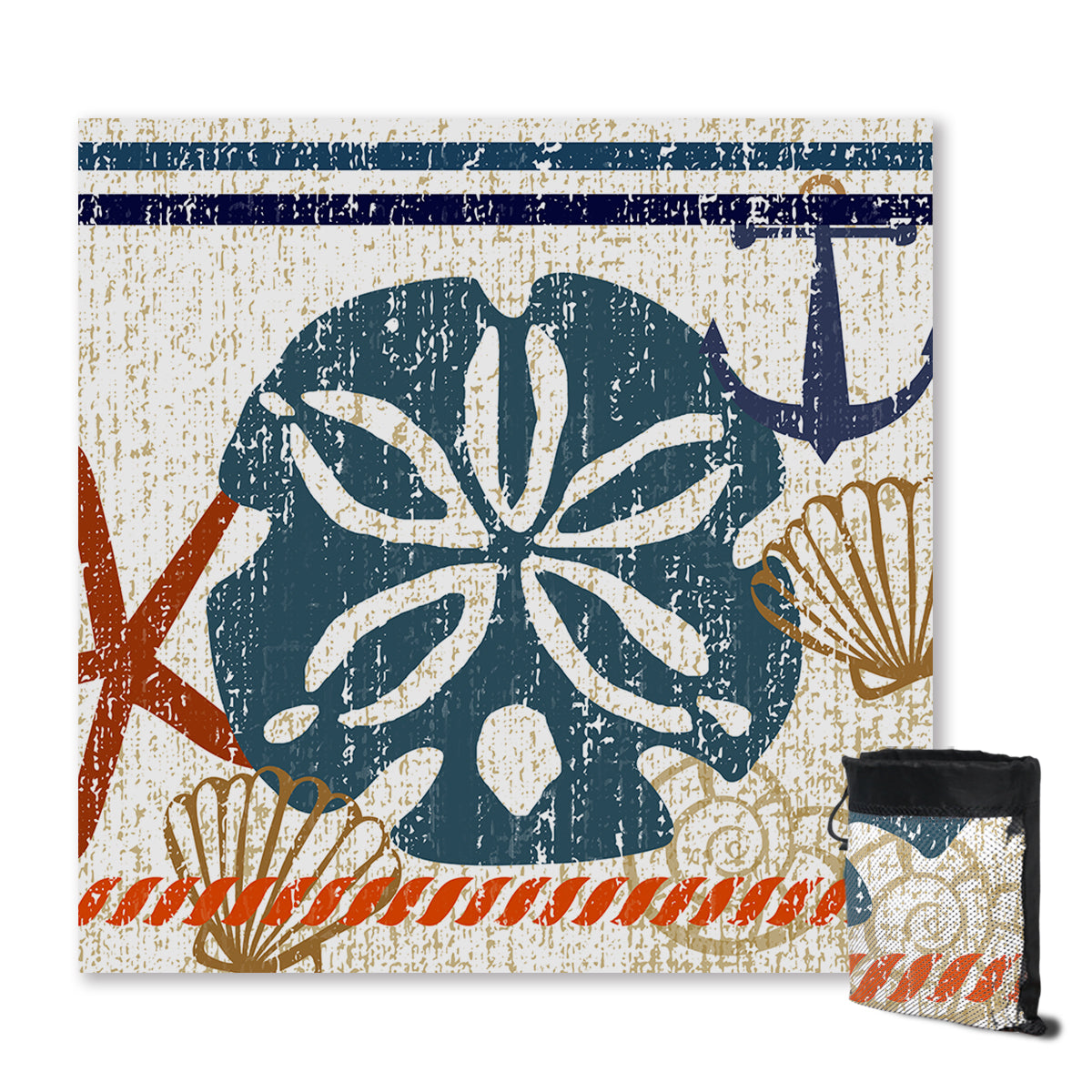 Beachy Sand Dollar Sand Free Towel