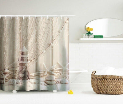 Beach Treasures Shower Curtain-Coastal Passion