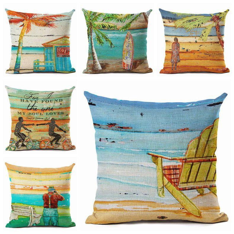 Beach Vibes Collection-Pillow Cover-Coastal Passion