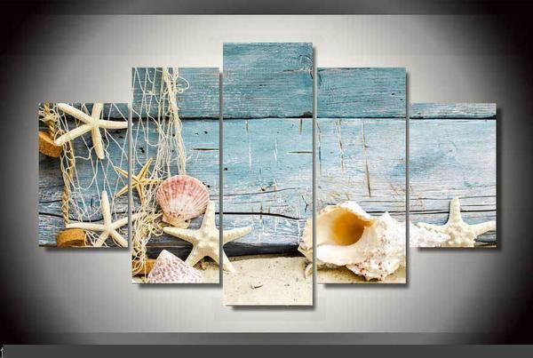 Beach Wood Gallery Wrap Canvas Print--Coastal Passion