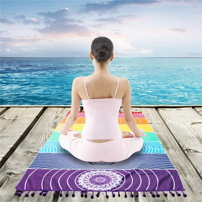 Beach Towel-Beach Yoga Extra Large Towel-Coastal Passion
