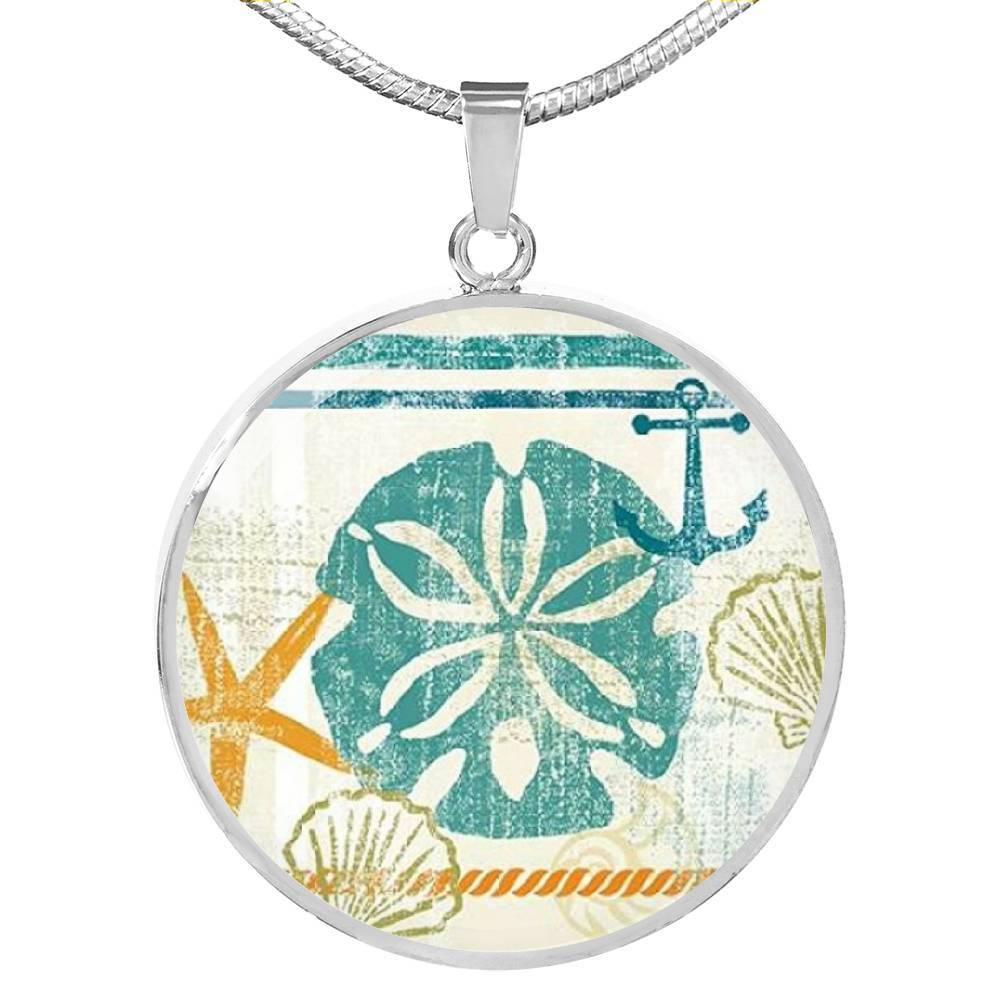 Beachy Sand Dollar Necklace-Coastal Passion