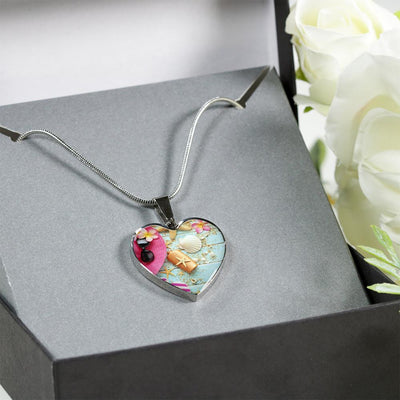 Beachy Set Heart Necklace-Jewelry-Coastal Passion