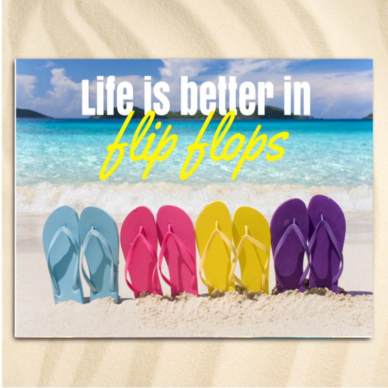 Beach Towel-Better in Flip Flops Extra Large Towel-Coastal Passion
