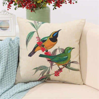 "Birds & Blooms Collection-Pillow Cover-Birds & Blooms Collection 1-17"" X 17""-STANDARD-Coastal Passion"