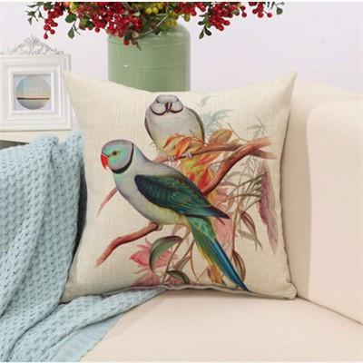 "Birds & Blooms Collection-Pillow Cover-Birds & Blooms Collection 2-17"" X 17""-STANDARD-Coastal Passion"
