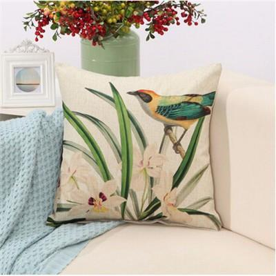 "Birds & Blooms Collection-Pillow Cover-Birds & Blooms Collection 3-17"" X 17""-STANDARD-Coastal Passion"
