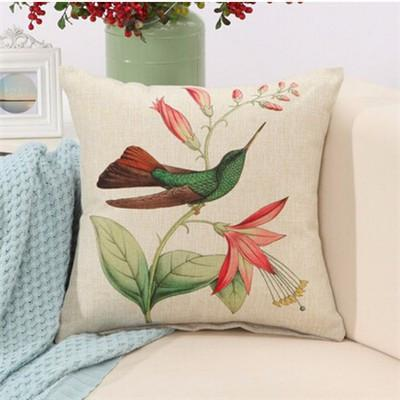 "Birds & Blooms Collection-Pillow Cover-Birds & Blooms Collection 5-17"" X 17""-STANDARD-Coastal Passion"