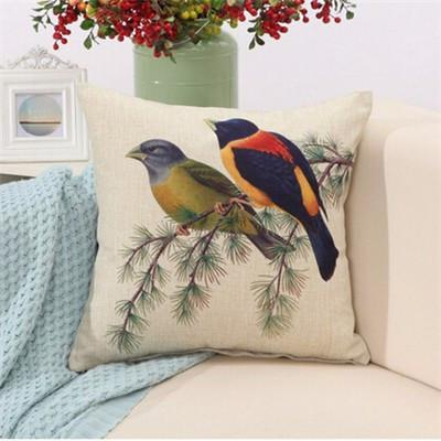 "Birds & Blooms Collection-Pillow Cover-Birds & Blooms Collection 7-17"" X 17""-STANDARD-Coastal Passion"