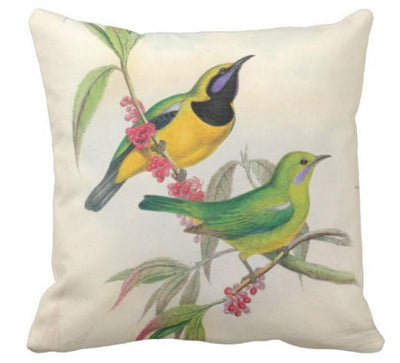 Birds & Blooms Collection-Pillow Cover-Coastal Passion