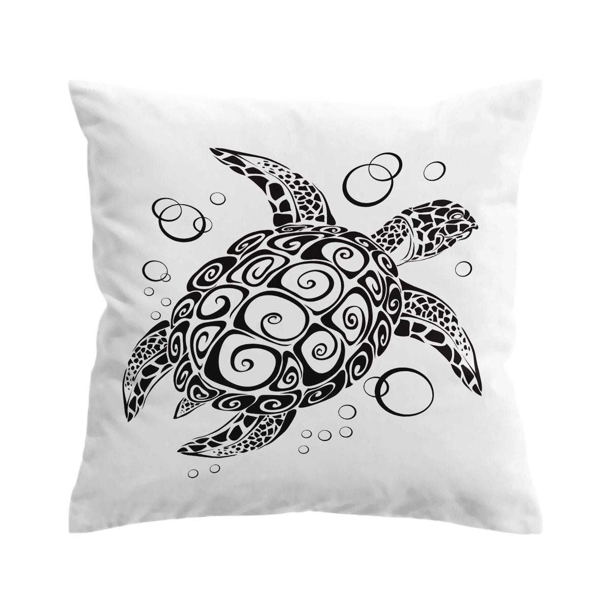 Black Turtle Twist Pillow Cover-Coastal Passion