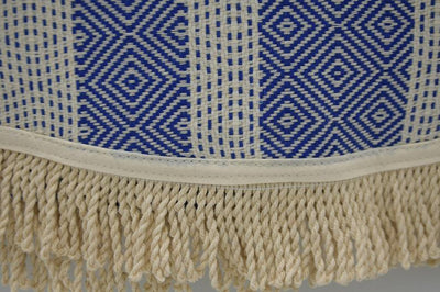 100% Cotton Turkish Towel-Blue and Black 100% Cotton Round Beach Towel-Coastal Passion