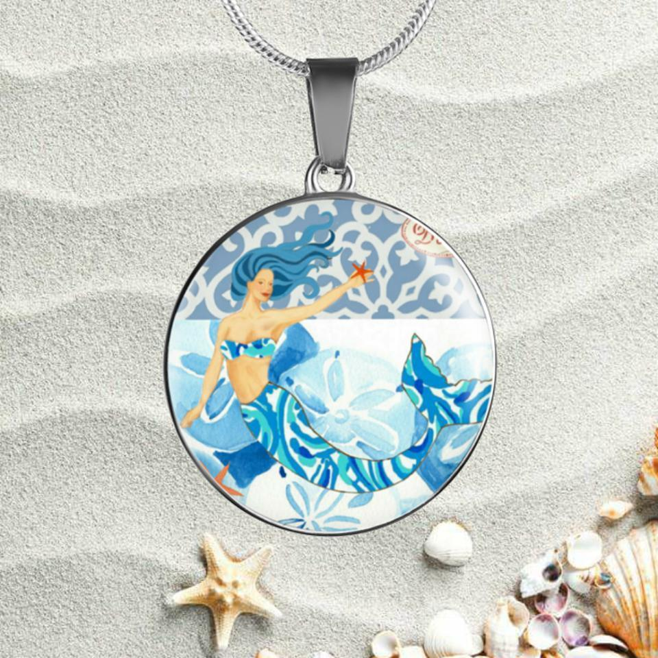 Blue Mermaid Necklace-Jewelry-Coastal Passion