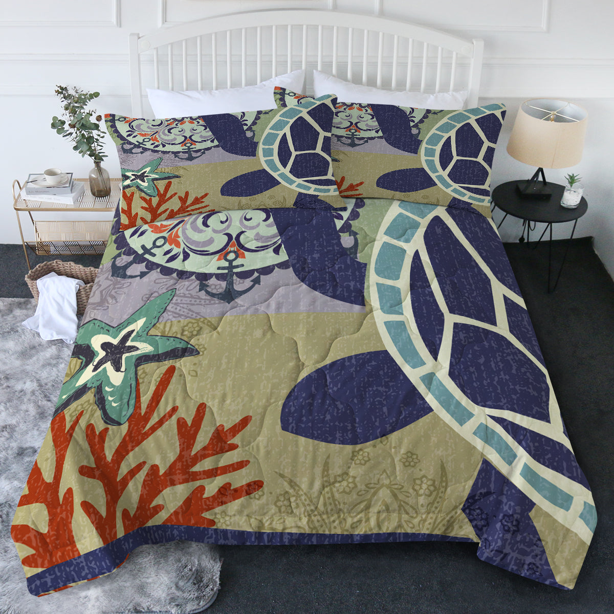 Sea Turtle Passion Comforter Set