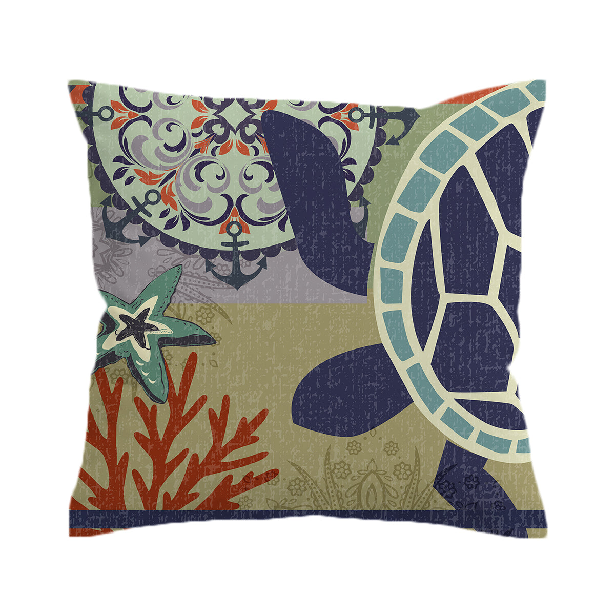 Sea Turtle Passion Pillow Cover