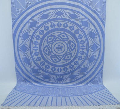 100% Cotton Turkish Towel-Blue Sun 100% Cotton Towel-Coastal Passion
