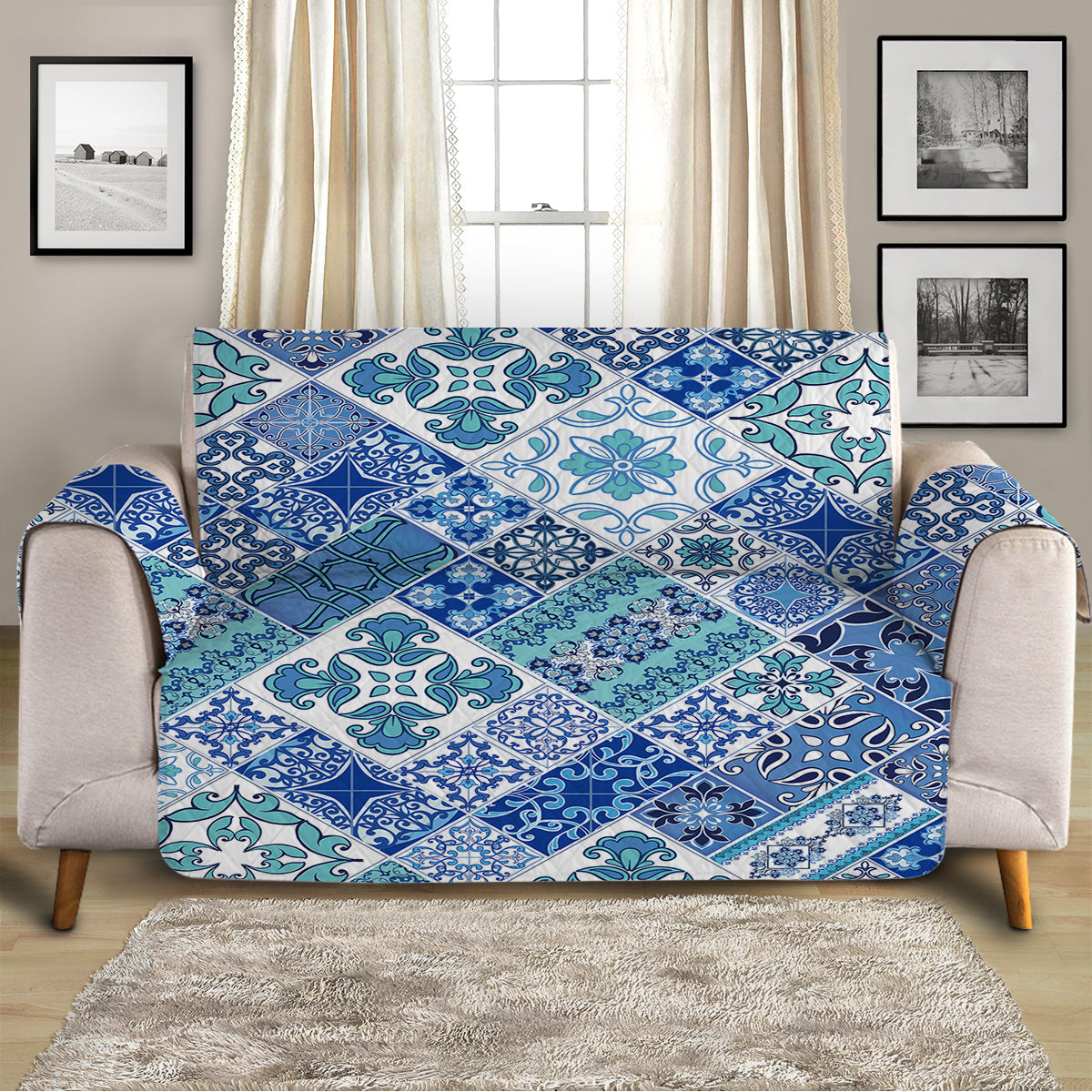 Coastal Mosaic Sofa Cover