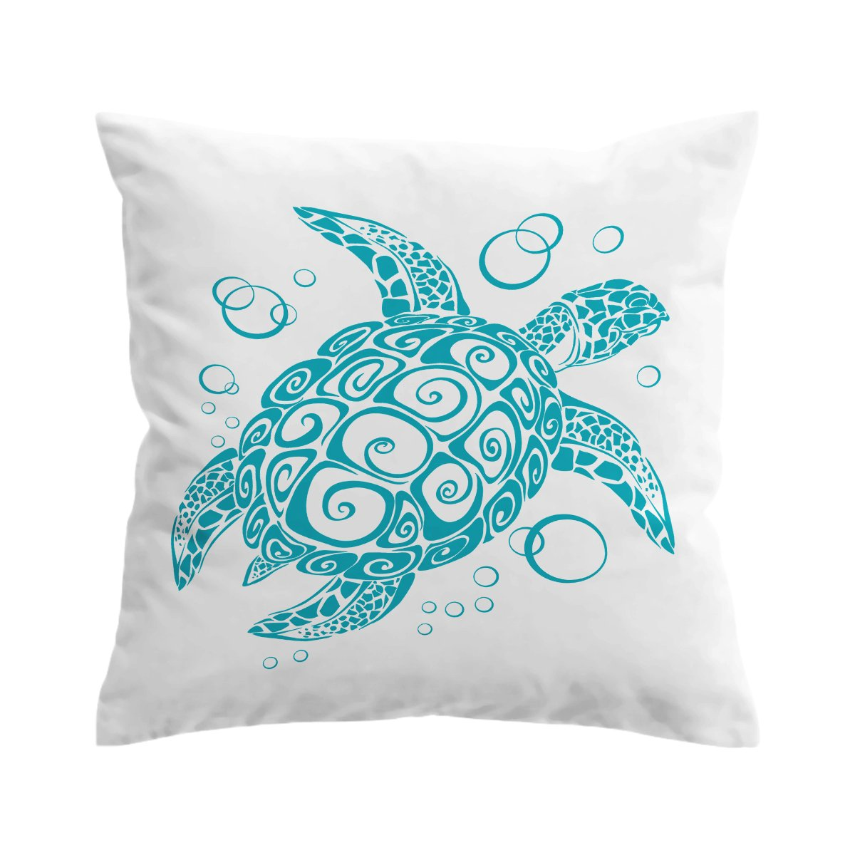 Blue Turtle Twist Pillow Cover-Coastal Passion