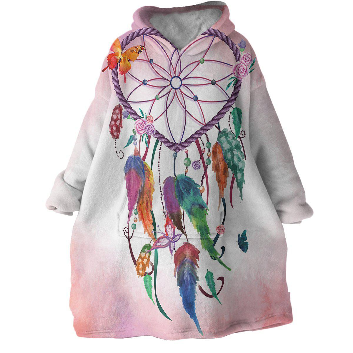 Catch a Dream Wearable Blanket Hoodie-Coastal Passion